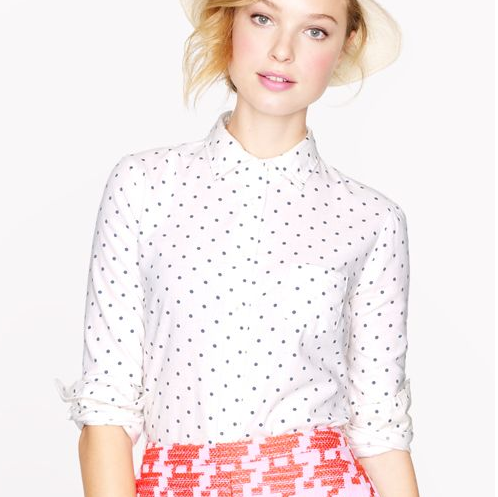 J crew boy shirt dots 78 - model
