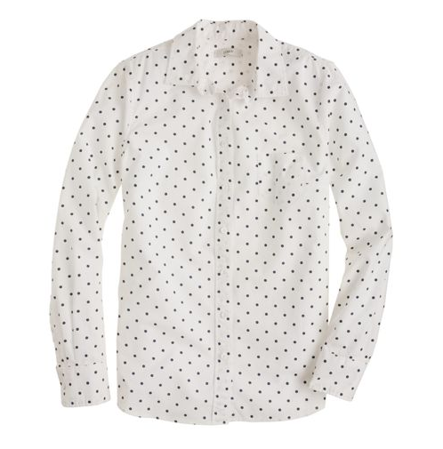 J crew boy shirt dots 78