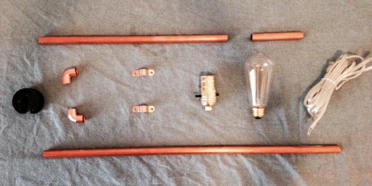 Copper Pipe Lamp DIY