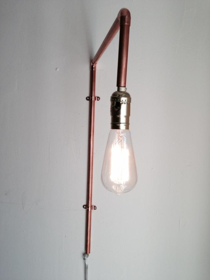 copper pipe DIY lamp