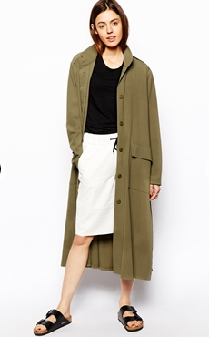 asos duster coat birkenstocks