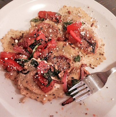 pan seared ravioli