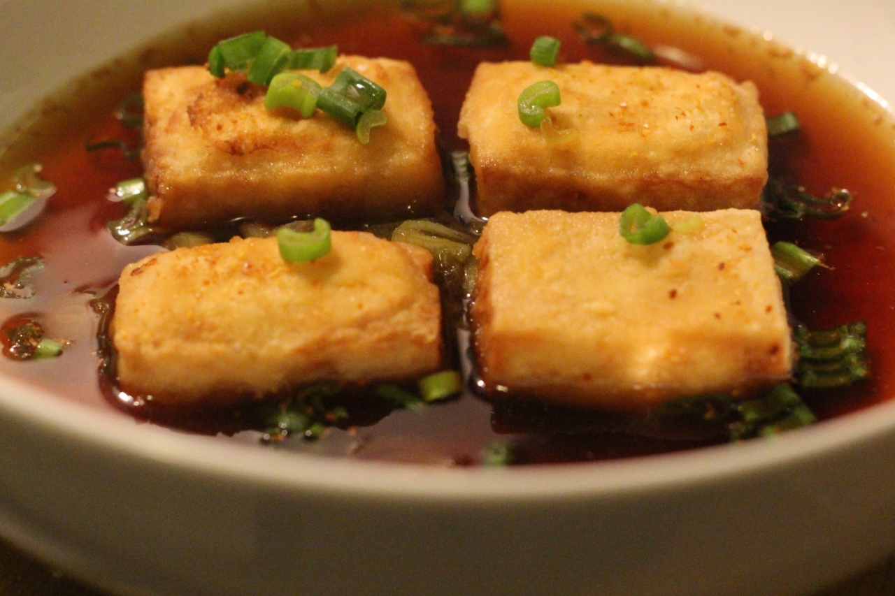 agedashi fried tofu