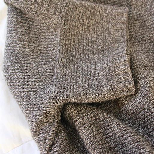 rustic knit close up