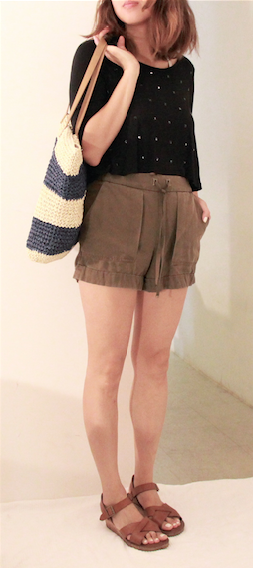 crop top zara shorts kork ease