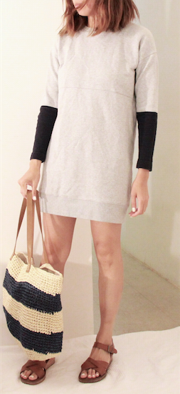 madewell sweater dress kork ease
