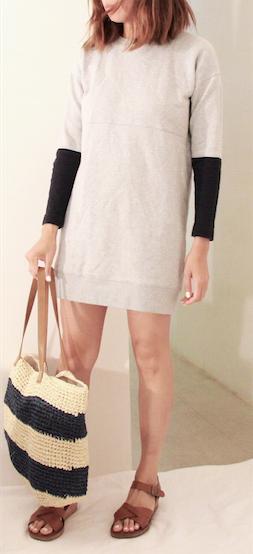 madewell sweater dress kork ease