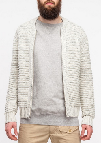 steven alan albert zip cardigan