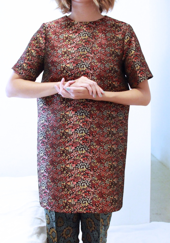 jacquard asian dress