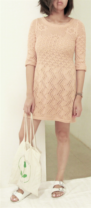 knit dress outfit front