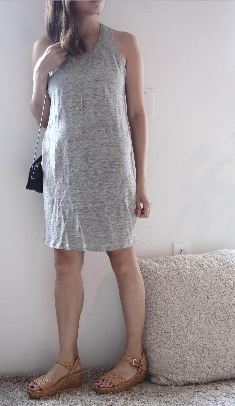 everlane tank gray dress
