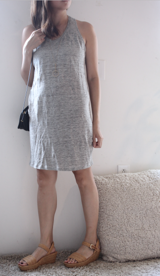 everlane tank gray dress