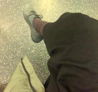 purple socks ootd