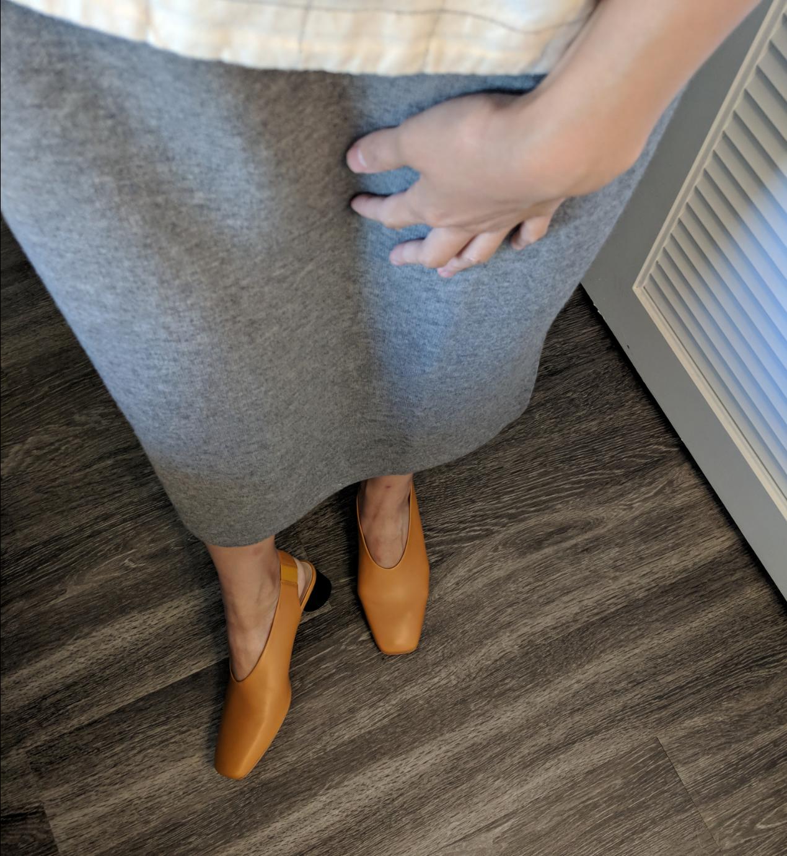 everlane square toe sling back